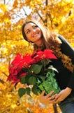 Woman seasonal portrait Royalty Free Stock Images