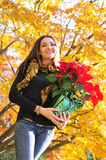 Woman seasonal portrait Royalty Free Stock Photos
