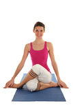 Woman Seated in Yoga Pose royalty free stock images
