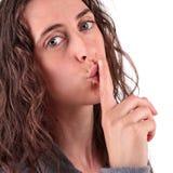 Woman secret Royalty Free Stock Photo