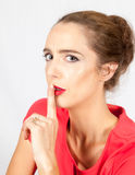 Woman with  a secret Royalty Free Stock Photos