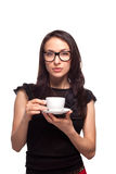 Woman secretary with coffee mug Royalty Free Stock Photos