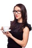Woman secretary with coffee mug Stock Photography