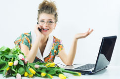 Woman secretary office Stock Image