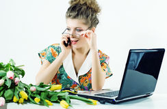 Woman secretary office Royalty Free Stock Image