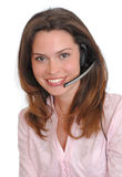 Woman secretary operator Royalty Free Stock Photo