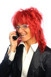 Woman secretary with red hair Stock Photography