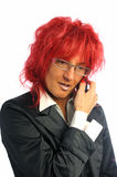 Woman secretary with red hair Stock Photo