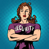 Woman security guard Royalty Free Stock Image