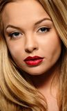 Woman with seductive lips Royalty Free Stock Images