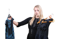 woman selecting clothes Stock Photography