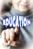Woman is selecting Education Royalty Free Stock Photo