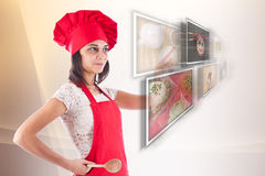Woman selecting images Royalty Free Stock Photography