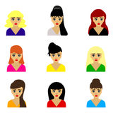 Woman selection of hairstyles Stock Photography