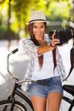 Woman self portrait Stock Image