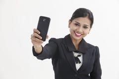 Woman selfie Stock Photos