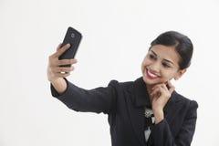 Woman selfie Stock Images