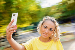 Woman selfie Stock Images