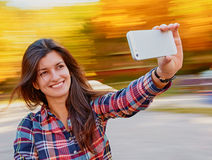 Woman selfie Stock Photos