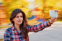 Woman selfie Royalty Free Stock Photos