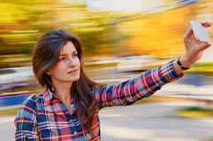Woman selfie Royalty Free Stock Photos