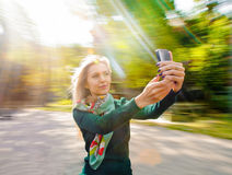 Woman selfie Royalty Free Stock Photography