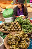 Woman selling food at traditional marketplace. Cam Royalty Free Stock Image