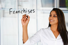 Woman Selling Franchises Stock Images