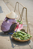 Woman selling mangos Royalty Free Stock Images