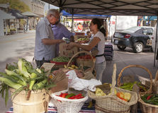 Woman Selling Produce Stock Image