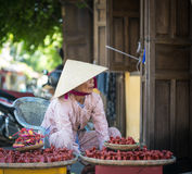 A woman selling souvenirs in Hoi An, Vietnam Royalty Free Stock Photography