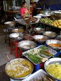 Woman selling Thai food, Thailand. Stock Images