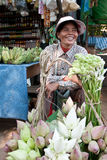 Woman selling vegetable in market Royalty Free Stock Photography