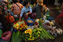 Woman selling vegetables Royalty Free Stock Photo