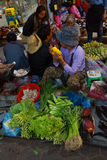 Woman selling vegetables Stock Photos