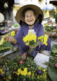 Flower Market in hoi-an vietnam Royalty Free Stock Photos