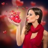 Woman sending love Royalty Free Stock Photo