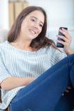 Woman sending text message Stock Image