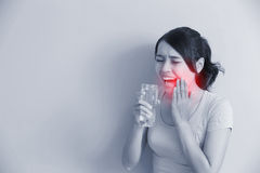 Woman with sensitive teeth Royalty Free Stock Photo