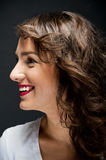 Woman with sensual kiss smile Royalty Free Stock Image