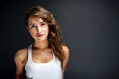 Woman with sensual smile Stock Photography