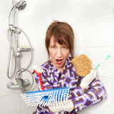 Woman serial cleaner Stock Photography