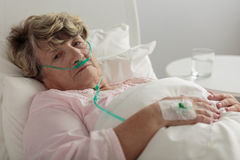 Woman with serious disorder Royalty Free Stock Photo