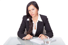 Woman with serious look Royalty Free Stock Photos
