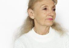 Woman Serious Studio Portrait Concept Stock Photography