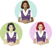 Woman in service uniform support expert Stock Images