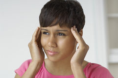 Woman With Severe Headache Stock Images