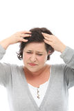 Woman with severe migraine Stock Image