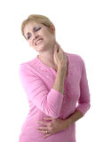 Woman With Severe Neck Pain 5 Stock Photos