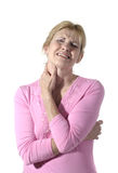 Woman With Severe Neck Pain 6 Royalty Free Stock Photo